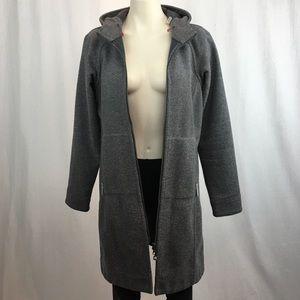 Lululemon Apres Yoga Grey Tweed Hooded Jacket 6